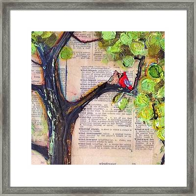 Cardinal Couple Detail Framed Print