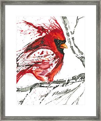 Cardinal Direction Framed Print by D Renee Wilson