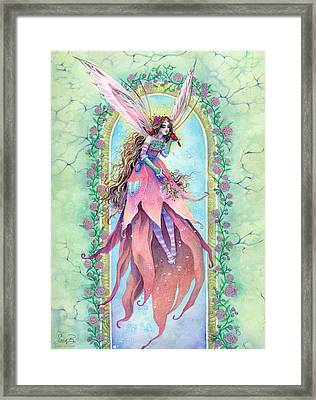 Cardinal Fairy Framed Print by Sara Burrier