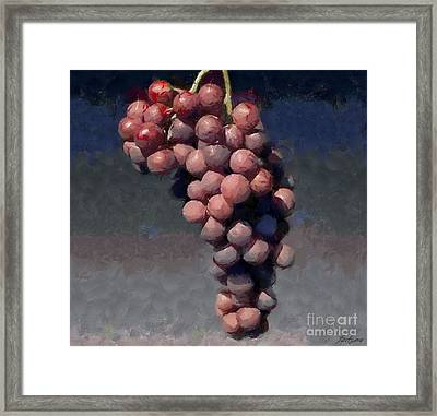 Cardinal Grapes Framed Print
