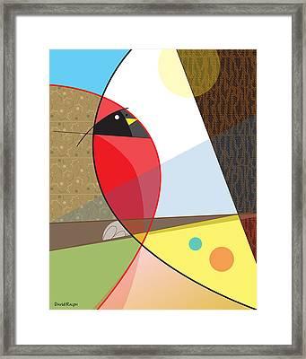 Cardinal In Fall Framed Print