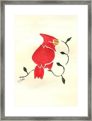 Cardinal Framed Print by Lori Johnson