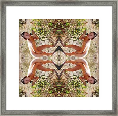 Cardinal Loyalty To Wild Rose Axis 2010 Framed Print by James Warren