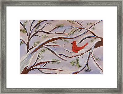 Cardinal Framed Print by Margaret Pappas