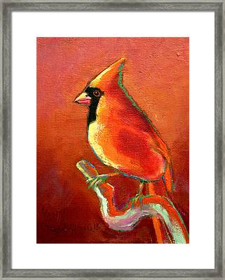 Cardinal On Red Framed Print