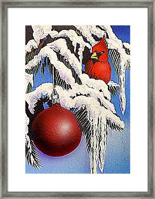 Cardinal One Ball Framed Print by Darren Robinson