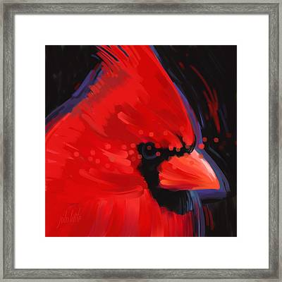 Cardinal Portrait Framed Print