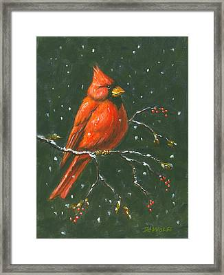 Cardinal Framed Print by Richard De Wolfe