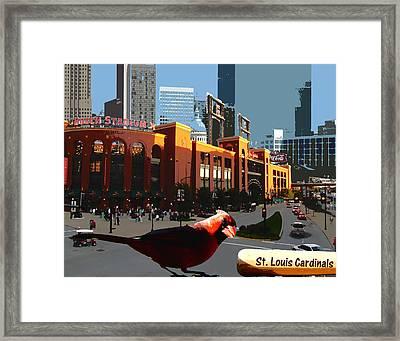 Cardinal Town Framed Print