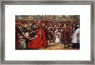Cardinal Wolsey On His Way Framed Print