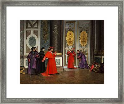 Cardinals In The Hall Of The Vatican Framed Print
