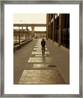 Cardinals' Walk Of Fame Framed Print by Jane Eleanor Nicholas