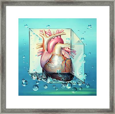 Cardiogenic Shock Framed Print by John Bavosi