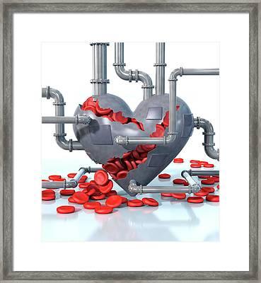 Cardiovascular Disease Framed Print by Animated Healthcare Ltd