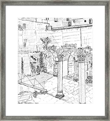 Framed Print featuring the painting Cardo by Linda Feinberg