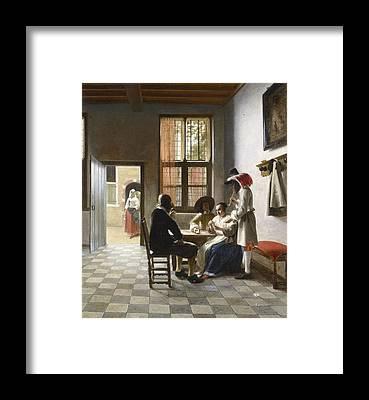 Pieter De Hooch Framed Prints