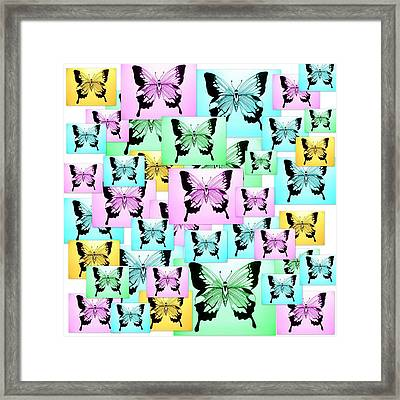 Carefree Butterflies Framed Print by Cathy Jacobs