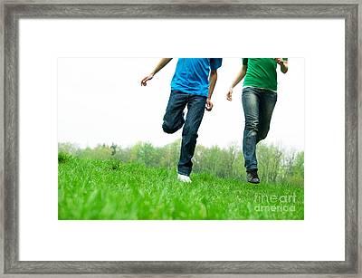 Carefree Friends Framed Print by Michal Bednarek