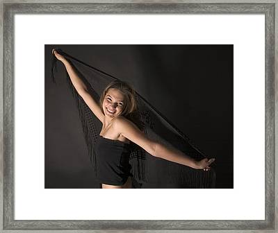 Framed Print featuring the photograph Carefree Girl by Bob Pardue