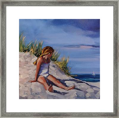 Carefree Framed Print by Laura Lee Zanghetti