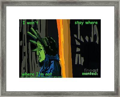 Careful America Framed Print by Joe Jake Pratt