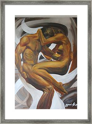 Caress Framed Print by Gani Banacia