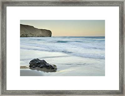 Caresses By The Sea Framed Print by Guido Montanes Castillo