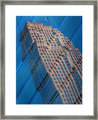 Carew Tower Reflection Framed Print