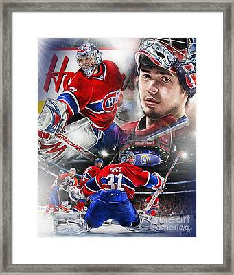 Carey Price Framed Print