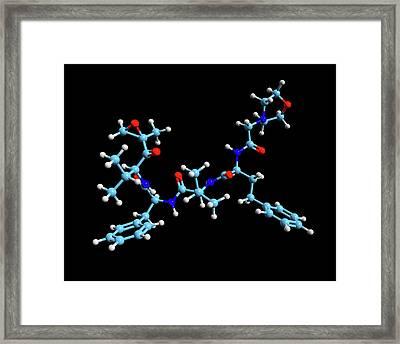 Carfilzomib Cancer Drug Molecule Framed Print
