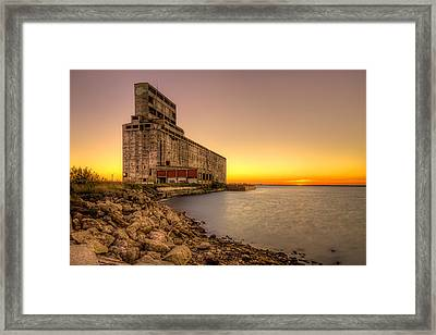 Cargill Pool Elevator Twilight Framed Print