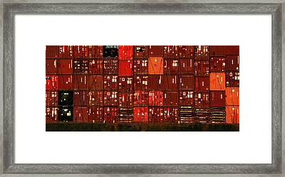 Cargo Containers Port Of Seattle Framed Print