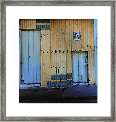 Cargo Shed  Framed Print