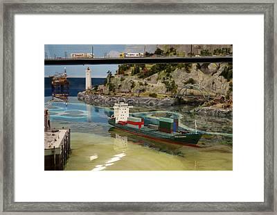 Cargo Ship Framed Print