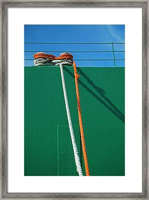 Cargo Ship Mooring Line Framed Print by Jim West