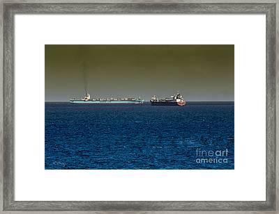 Cargo Steamer  Framed Print