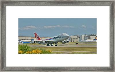 Cargolux 747-8f Framed Print by Jeff Cook