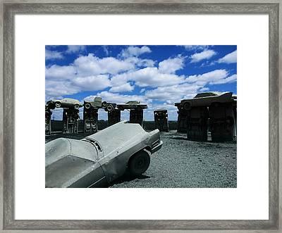 Carhenge Framed Print by Chad Rice
