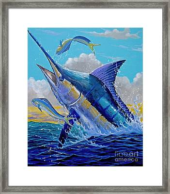 Carib Blue Framed Print by Carey Chen