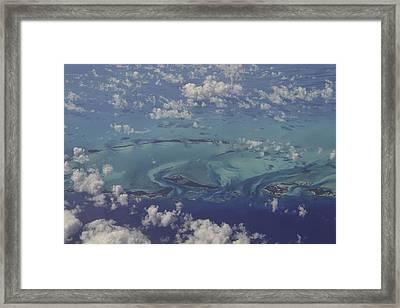 Caribbean Aerial 3 Framed Print