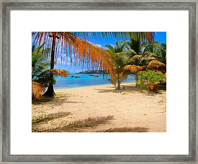 Caribbean Beach In Anguilla Framed Print