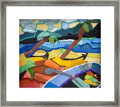 Caribbean Beach Framed Print by Nicola Scott-Taylor