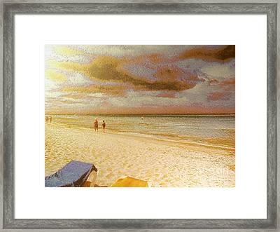 Caribbean Beach Framed Print by Odon Czintos