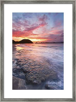 Caribbean Beach Sunset Framed Print by Katherine Gendreau