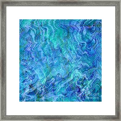 Caribbean Blue Abstract Framed Print