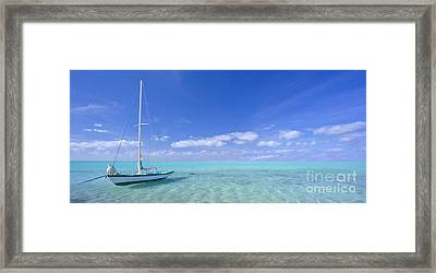 Caribbean Chill Time Framed Print by Marco Crupi