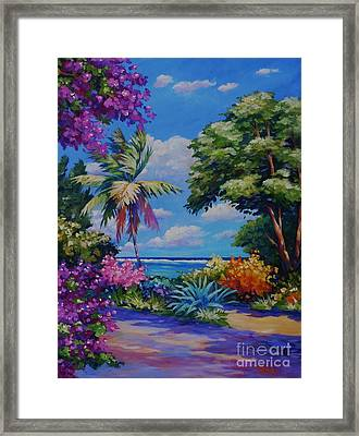 Caribbean Colours Framed Print by John Clark