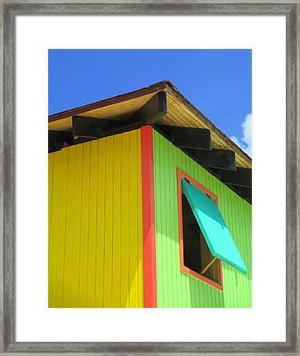 Caribbean Corner 2 Framed Print by Randall Weidner