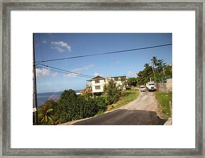 Caribbean Cruise - Dominica - 121230 Framed Print by DC Photographer