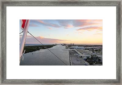 Caribbean Cruise - On Board Ship - 121212 Framed Print by DC Photographer